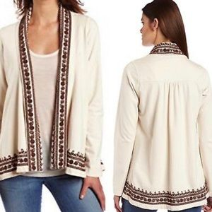 🍀Lucky Brand🍀bohemian cardigan with embroidery